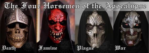 The Four Horsemen of the Apocalypse by SatanaelArt