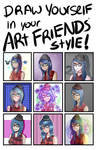 'Draw Yourself in your Art Friends Style' Meme by Nachquana
