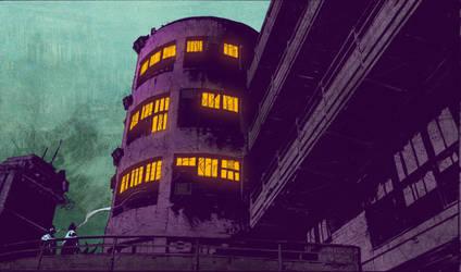 Arkham Asylum Colors by jakekless