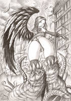 Lost angel2 by LordMiste