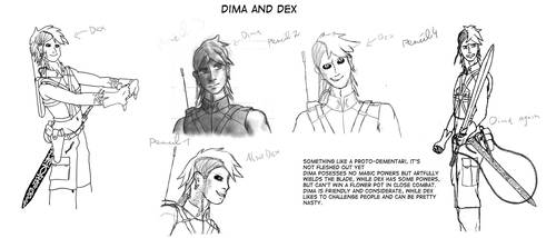 Dima and Dex Concept art by Joachim-Berger