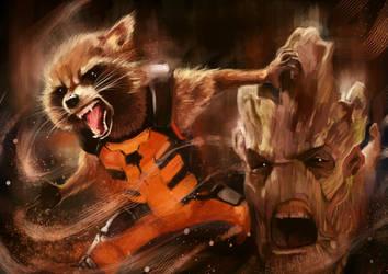 Guardians of the Galaxy by Rheatheranger