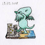 Cute Cthulhu by HappyGloom