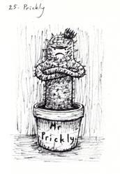 Inktober 2018-25 Prickly by HappyGloom