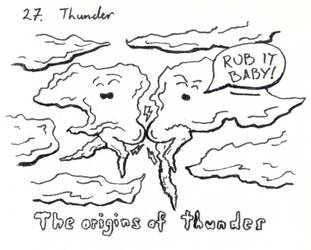 Inktober 2018-27 Thunder by HappyGloom
