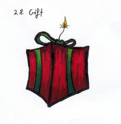 Inktober 2018-28 Gift by HappyGloom