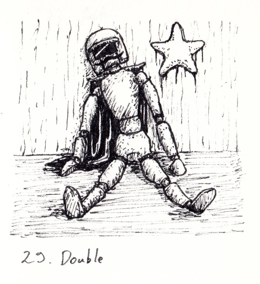 Inktober 2018-29 Double by HappyGloom