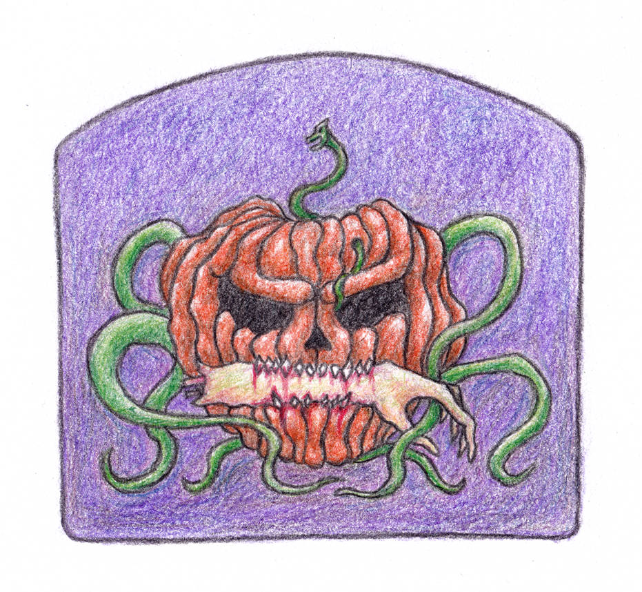Morbid pumpkin by HappyGloom
