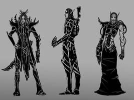 Dark Eldar by Skrumpgoblin