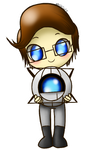 Portal - Chibi Wheatley Pagedoll F2U by Tanza-Night