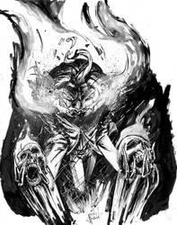 Jack-o-lantern Scarecrow Inktober Sketch by justinprokowich