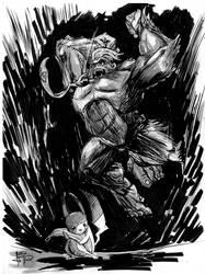 Smash Sketch: Pikachu vs. Donkey Kong by justinprokowich
