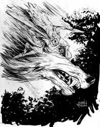Princess Mononoke NYCC Sketch by justinprokowich