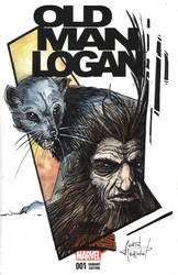 Old Man Logan Sketch Cover Colors by justinprokowich