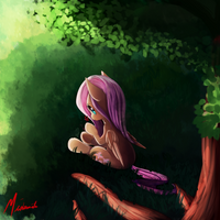 Tree Sitting by Miokomata