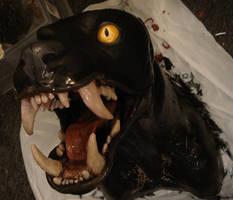 painted werewolf head two by missmonster