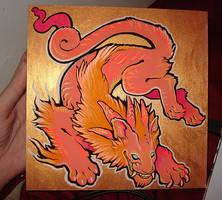 gold firecat by missmonster