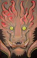 monster face grey by missmonster