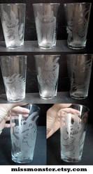 Monster glass set by missmonster