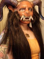 Demon head progress hair by missmonster