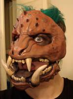 Boar monster mask painted by missmonster