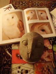 Owl mask in progress by missmonster
