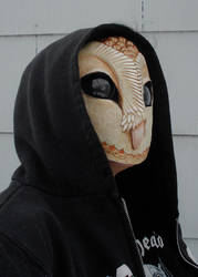 Owl mask with hood side by missmonster