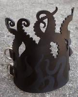 Leather silhouette tentacle by missmonster