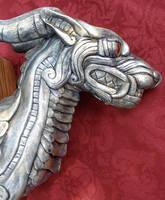 Silver creature head 2 by missmonster