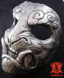 Demon mask silver by missmonster