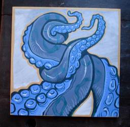 Purple tentacle painting by missmonster