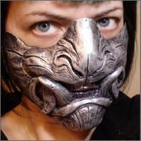 Demon half mask by missmonster