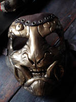 Steampunk demon mask by missmonster