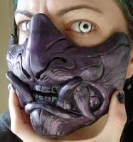 Demon half mask purple metal by missmonster