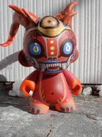 Custom demon monkey Munny 4' by missmonster