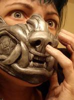 Werewolf half mask by missmonster
