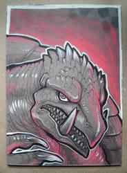 Gamera ink drawing by missmonster