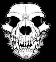 Werewolf skull bandana by missmonster