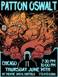 Patton Oswalt gig poster by missmonster