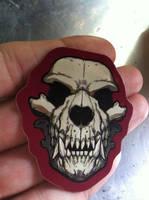 Werewolf skull sticker by missmonster