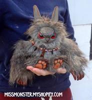 Kunkl the baby Owlbear by missmonster