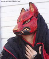 Kitsune mask painted edition 1 by missmonster