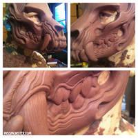 skullbeast mask WIP by missmonster
