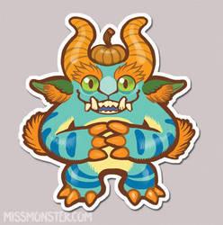 Mose the Monster sticker by missmonster