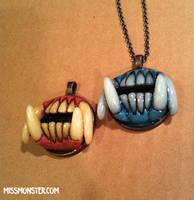 Monster Maw pendants by missmonster