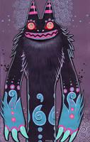 monster gouache painting by missmonster