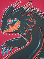 red n' black monster by missmonster