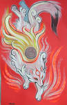 Okami fan art painting by missmonster