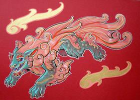 nikko temple foo dog by missmonster