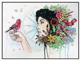 Red Bird by ShaunDeLosMuertos